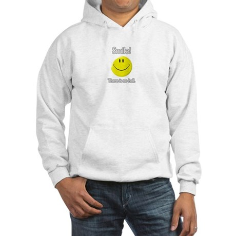 smile! there is no hell. Hooded Sweatshirt