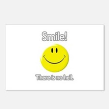 smile! there is no hell.  Postcards (Package of 8)