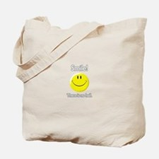 smile! there is no hell.  Tote Bag
