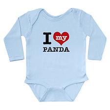 i love my Panda Long Sleeve Infant Bodysuit