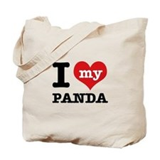i love my Panda Tote Bag