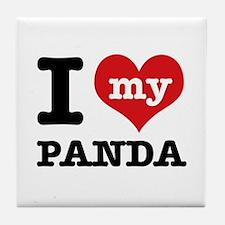 i love my Panda Tile Coaster