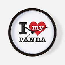 i love my Panda Wall Clock