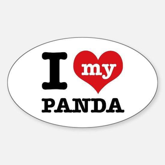 i love my Panda Sticker (Oval)