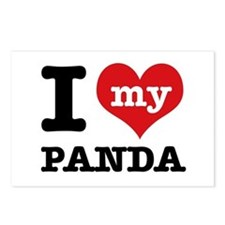 i love my Panda Postcards (Package of 8)