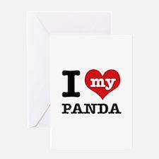 i love my Panda Greeting Card