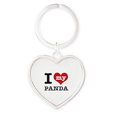 i love my Panda Heart Keychain