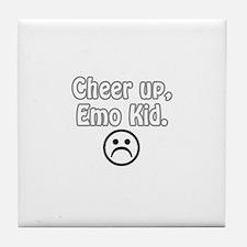 Cheer up, emo kid  Tile Coaster