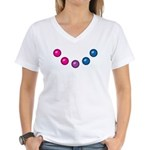 Bi Baubles Women's V-Neck T-Shirt