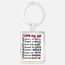 I love my Job Portrait Keychain