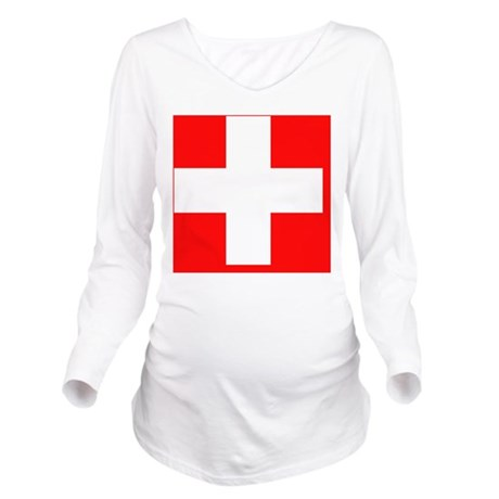 Flag_of_Switzerland Long Sleeve Maternity T-Shirt