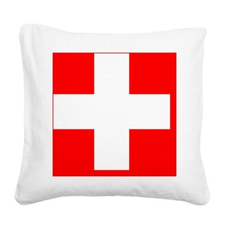 Flag_of_Switzerland Square Canvas Pillow