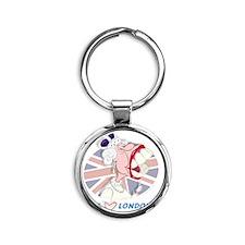 Queen Elizabeth Mug-London Round Keychain