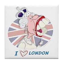 Queen Elizabeth Mug-London Tile Coaster
