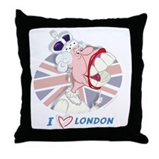 Queen Elizabeth Mug-London Throw Pillow