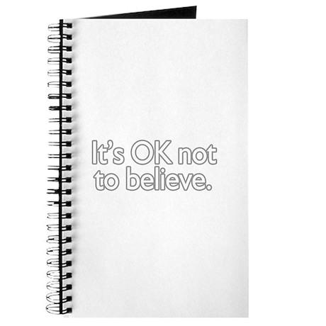 It's OK not to believe Journal