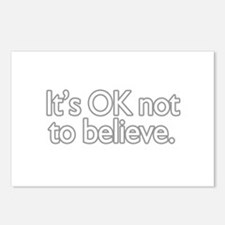It's OK not to believe  Postcards (Package of 8)