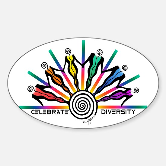 Diversity Strip Sticker (Oval)