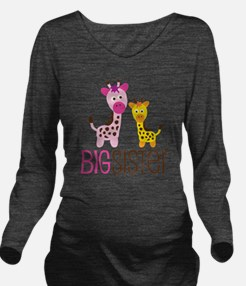 GiraffeBigSisterV2 Long Sleeve Maternity T-Shirt
