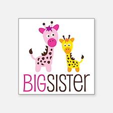"GiraffeBigSisterV2 Square Sticker 3"" x 3"""
