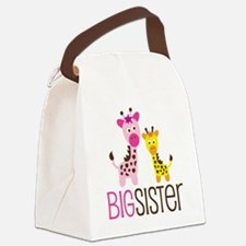 GiraffeBigSisterV2 Canvas Lunch Bag