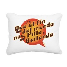 QUE EL FIN DEL MUNDO NOS Rectangular Canvas Pillow