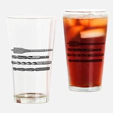 Drill Bits Drinking Glass