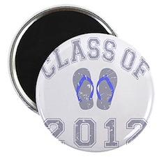 Class Of 2012 Flip Flop Grey-Blue 2 D Magnet