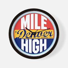 Denver Vintage Label W Wall Clock