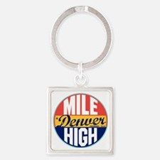 Denver Vintage Label W Square Keychain