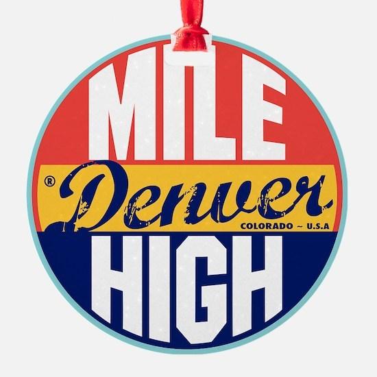 Denver Vintage Label W Ornament