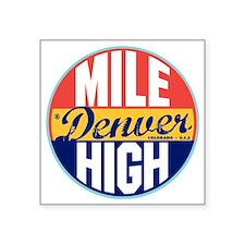"Denver Vintage Label W Square Sticker 3"" x 3"""