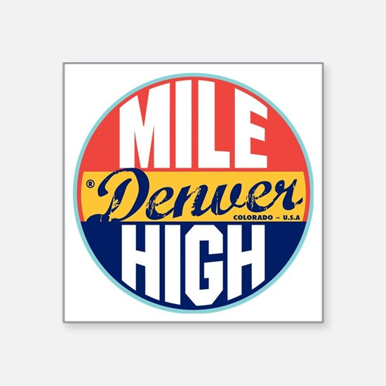 "Denver Vintage Label W Square Sticker 3"" x 3"""