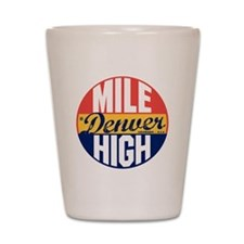 Denver Vintage Label B Shot Glass