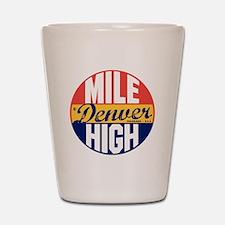 Denver Vintage Label B Shot Glass