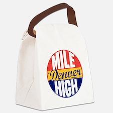 Denver Vintage Label B Canvas Lunch Bag