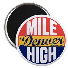 Denver Vintage Label B Magnet