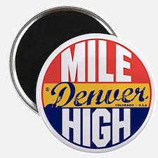 Denver Vintage Label B Magnet