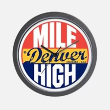 Denver Vintage Label B Wall Clock