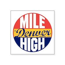 """Denver Vintage Label B Square Sticker 3"""" x 3"""""""