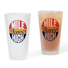 Denver Vintage Label B Drinking Glass