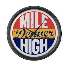 Denver Vintage Label B Large Wall Clock