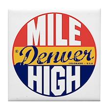 Denver Vintage Label B Tile Coaster