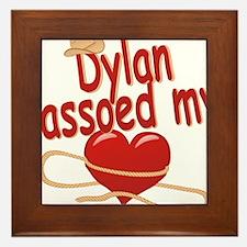 dylan-b-lassoed Framed Tile