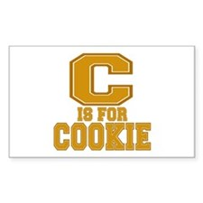 C is for Cookie Rectangle Decal