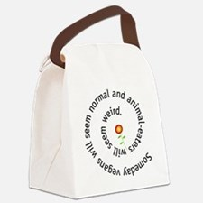 normal-4wht-flower Canvas Lunch Bag