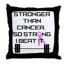 stronger-than-cancerBB Throw Pillow