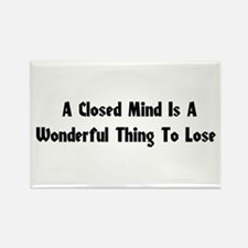 Closed Minds Rectangle Magnet (10 pack)