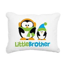 Penguin2LittleBrother Rectangular Canvas Pillow