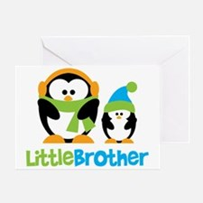 Penguin2LittleBrother Greeting Card